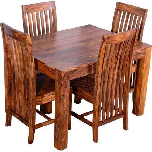 Modern 4 Seater Wooden Dining Table Set
