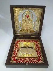 Ganesh Gold Plated Photo Frame Box