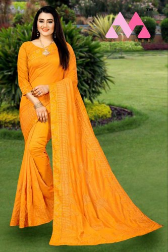 Ladies Party Wear Heavy Work Saree With Low Rate