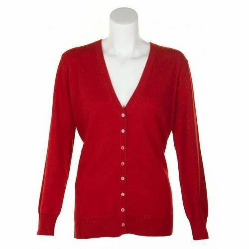 2c665d3c27f Ladies Red Cardigan