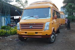 Yellow School Van Modifications