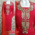 Georgette Hand Work Suits W-529