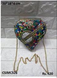 Heart Shape Mosaic Clutch