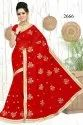 Indian Embroidery Work Saree