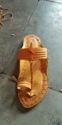 Women Ethnic Tan Color Typical Kolhapuri Chappal
