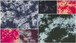 Printed Party Shibori Tie Dye Rayon Fabric
