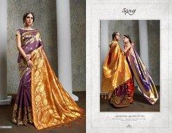 Party Fancy Orange Designer Sarees