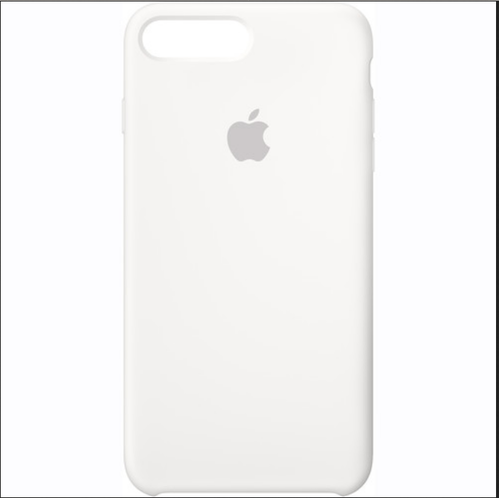 new product 8e7d5 5c174 Plain Leather Silicone Case For IPhone7 Plus White   ID: 15802083733