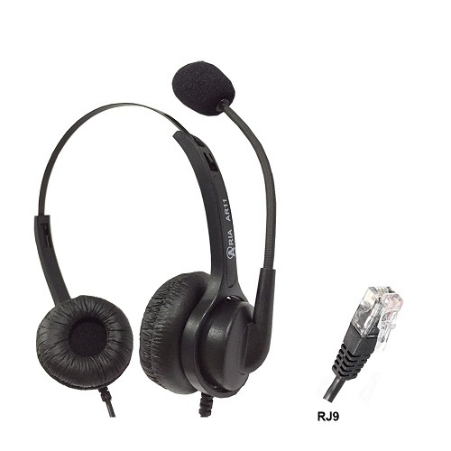 ARIA Black AR11N RJ9 Noise Cancelling Headset
