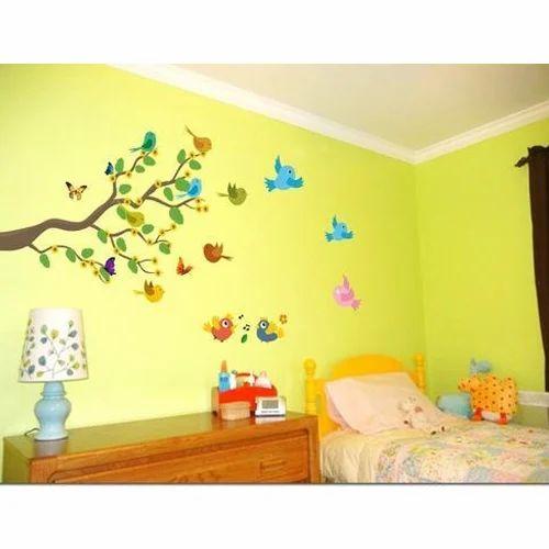 multi printed birds bedroom wall sticker, rs 100 /piece, sudarshan