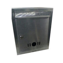 Silver Stainless Steel Letter Box, Lock With Two Keys, Size: Standard