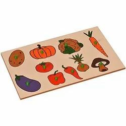 Inset Boards Vegetables / Vegetable Puzzle / Vegetable Puzzle Tray / wooden vegetable puzzle