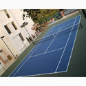 Blue Acrylic Sports Flooring, Thickness: 5-10 Mm