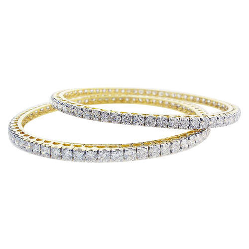 Artificial Diamond Bangles