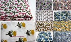 Mugal Buta Flower Printed Hand Block Cotton Fabric
