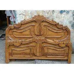 Indoor Teak Wood Cot(5), Size: King And Queen Size