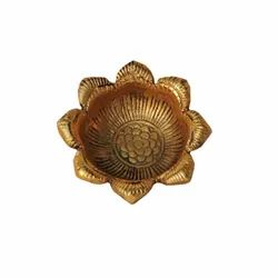AJN-30 Brass Flower Shaped Diya