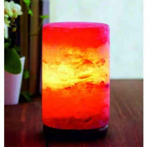 Cylinder Shape Himalayan Salt Lamp
