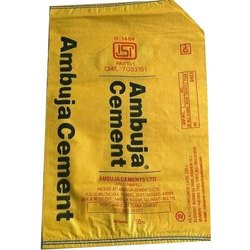 Yellow Misprinted Woven Cement Bags