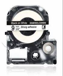 LK-3WBN Compatible for EPSON LK3WBN Label Tape Black on white 9mm X 8m