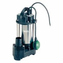 Single Phase Wilo Dewatering Sewage Submersible Pump, 5 - 20 HP, Electric