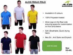 Plain Polyester Alcis Frolic Polo - Dri Fit