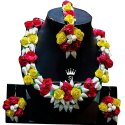 Jain Saab Wedding Bridal Gota Flower Necklace Set