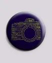 Camera Typography Button Badge