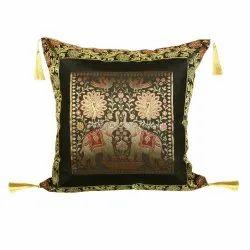 Silk Polydupion Square Jacquard Cushion Pillow Cases