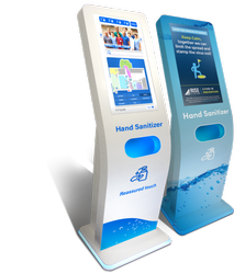 Auto Dispensing Hand Sanitizer With Display With Media Player