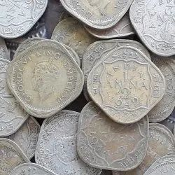 50 Coins Lot - King George Vi - 1/2 Anna - Circulated Condition - British India - 1939 1940 1941