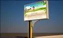 Retro Reflective Road Uni-Pole Sign Board