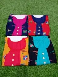 Ladies Double Layer Rayon Kurti With Attached Koti