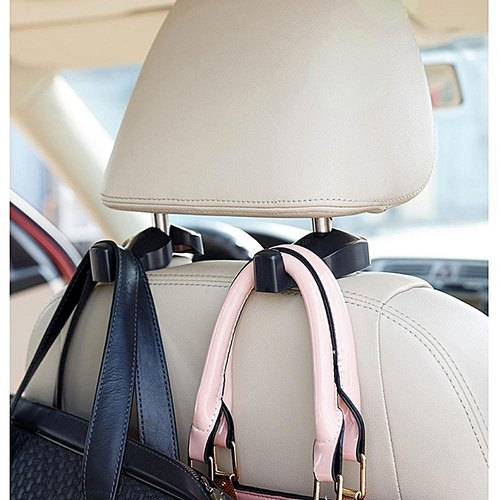 Universal Car Back Seat Headrest Hook, Hanging Holder for Purse, Polybags, Handbags, Groceries