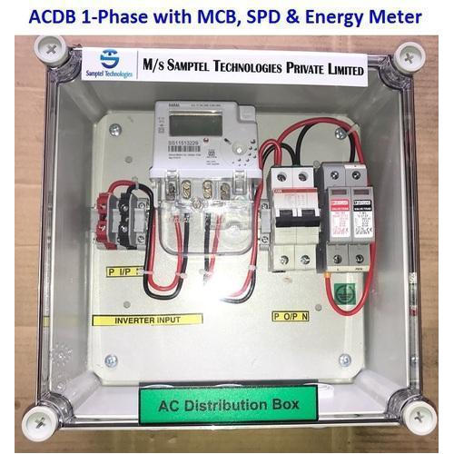 Single Phase Solar ACDB with Energy Meter