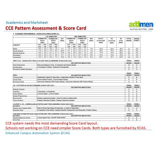 CBSE Marks And Score Card Software