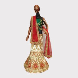 Golden Ceremonial Lehenga