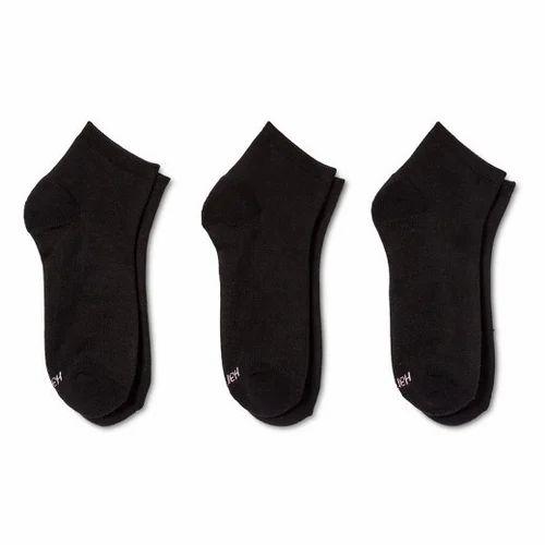 32d63caa0 Cotton Black Ankle Length Socks
