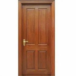 Finished Teak Wood, Solid Wood Interior Wooden Door