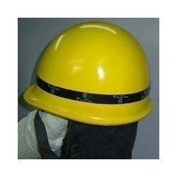 Fibre Glass Yellow Fireman Helmet IS