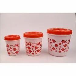 Cozy 3 Pcs Plastics Container Set
