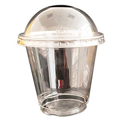 Plastic Disposable Glass with Dome Lid