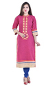 Cotton Slub Embroidered Kurti