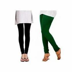Casual Wear Plain Ladies Cotton Legging