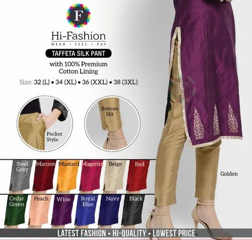 Regular Fit FORMAL LADIES SILK PANT