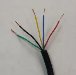 5 Core Silicone Rubber Insulated PTFE Wire