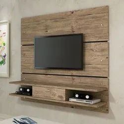 Window Harmony Wood Wall Mounted Wooden TV Unit, for Home