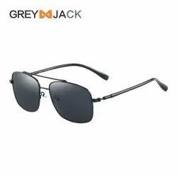 Square Black Grey Jack Rectangular Sunglasses