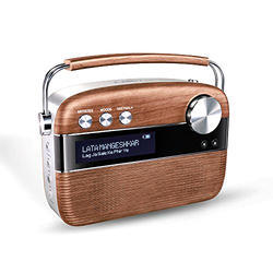 Wood Brown Saregama Music Player