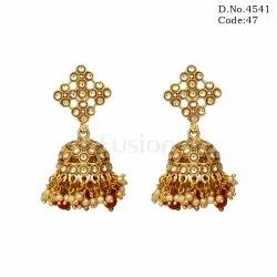 Antique Kundan Jhumka Earring